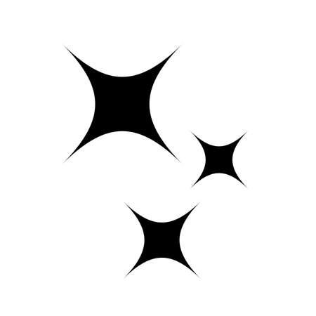 Magie funkelt Vektorsymbol auf weißem Hintergrund