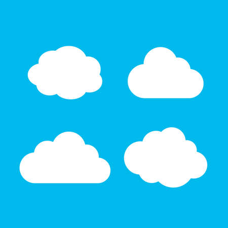 White cloud shape vector illustration