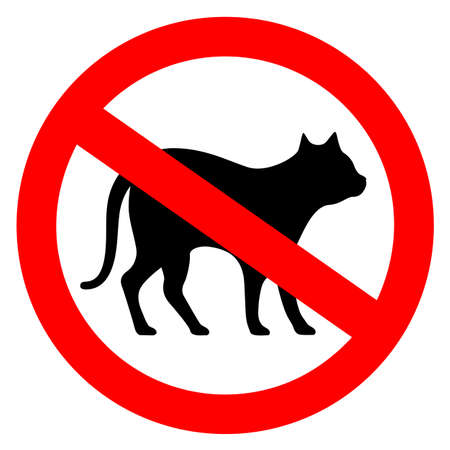 No cats vector sign on white background