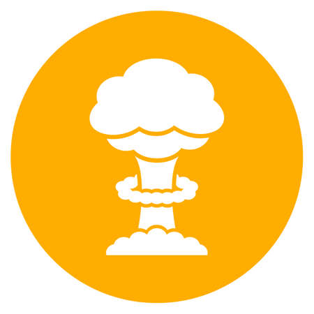 Thermonuclear bomb vector icon on white background