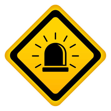 Urgent warning alarm vector sign on white background