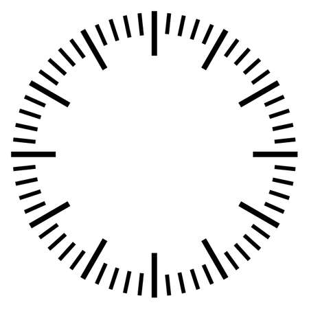 Zatrzymaj szablon tarczy zegarka na białym tle Ilustracje wektorowe