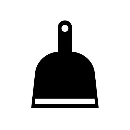 Dust pan vector pictogram on white background