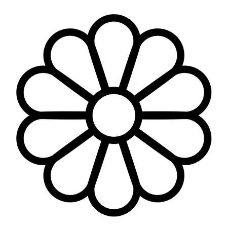 Flower line vector icon on white background
