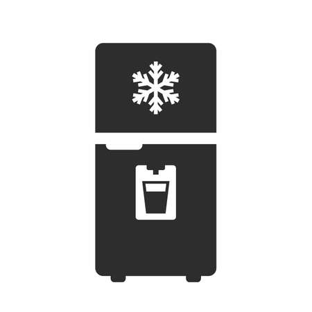 Modern fridge vector icon on white background