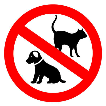No pets vector sign on white background