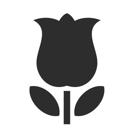 Tulip flower vector icon on white background Illusztráció