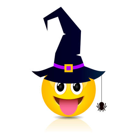 Halloween emoji vector cartoon on white background