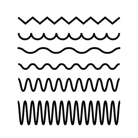 Vibration waves vector icon set on white background