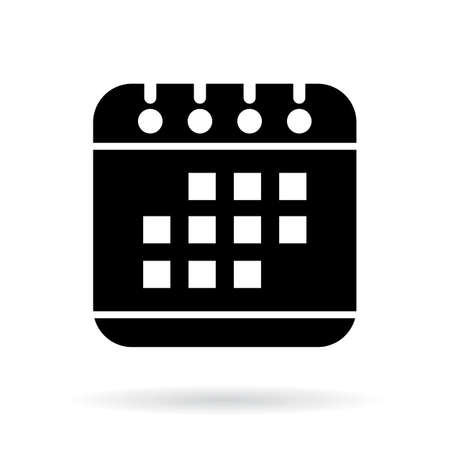 Calendar vector icon on white background