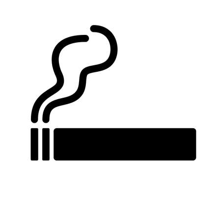 Cigarette vector icon on white background