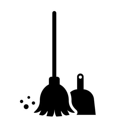 Cleaning service vector icon on white background