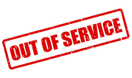 Out of service vector stamp isolated on white background Vektorgrafik
