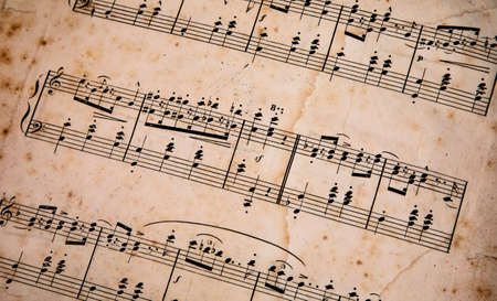 Old music note paper, unknown author Stockfoto