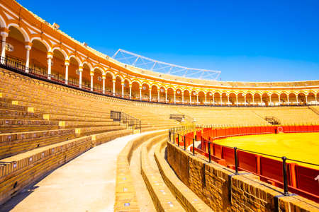 SEVILLE, SPAIN - 14 March 2019: Bull ring (Plaza de toros) in Sevilla