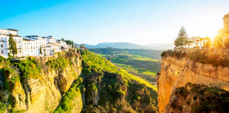Sunset in Ronda, Andalusia landscape, Spain
