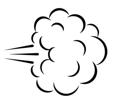 Illustrazione di vettore della nuvola di esplosione dei fumetti isolata su fondo bianco Vettoriali