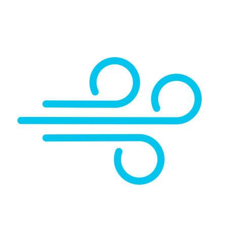 Wind blow vector icon Illusztráció