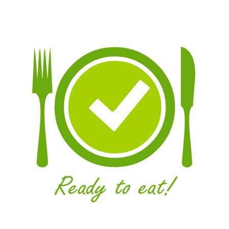 Easy prep food icon isolated on white background Vetores