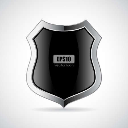 Abstract security shield vector icon on white background Imagens - 134792612