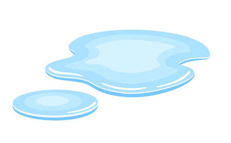 Water puddle vector icon isolated on white background