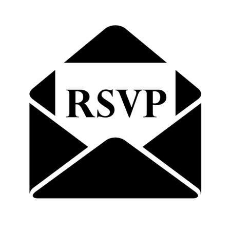 Rsvp letter vector pictogram on white background