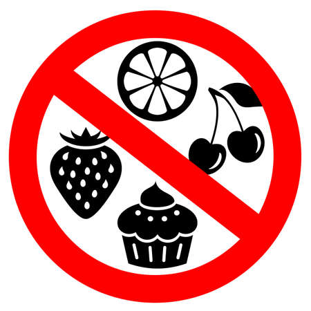 No artificial flavors vector sign on white background