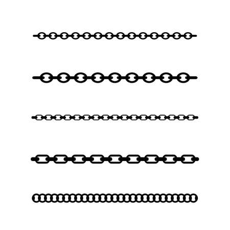 Chain line vector design element, brushes included