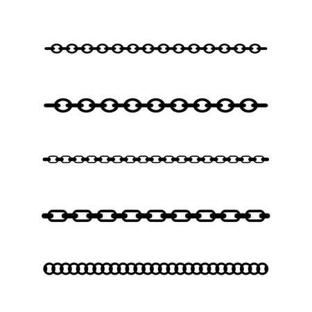 Kettenlinien-Vektor-Design-Element, Pinsel enthalten