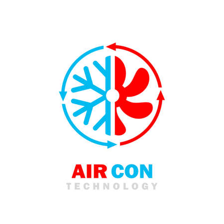 Air con vector logo on white background