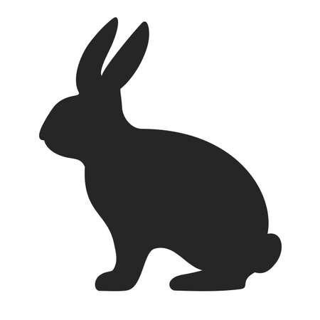 Häschen-Silhouette-Vektor-Symbol auf weißem Hintergrund Vektorgrafik