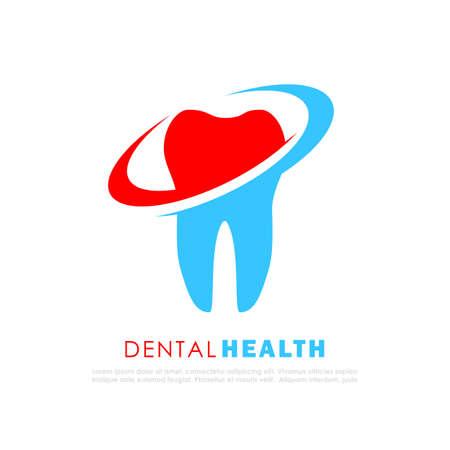 Dental clinic vector logo design on white background Illustration
