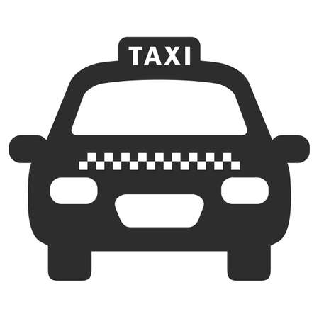 Taxi car vector icon isolated on white background