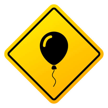 Kids game zone vector sign with helium balloon