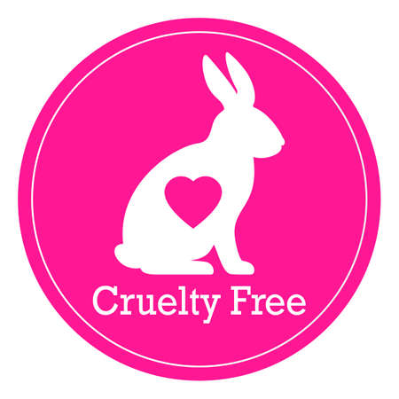 Cruelty free pink vector label isolated on white background