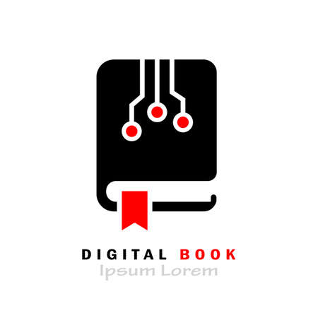 E-book vector icon isolated on white background