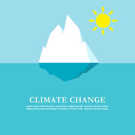 Climate change poster design, vector illustration