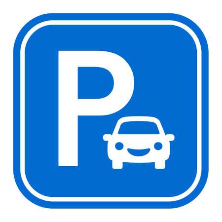 Car parking vector sign on white background Vecteurs