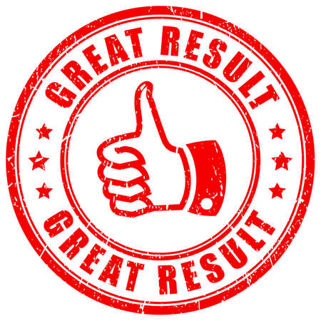 Great result vector stamp on white background