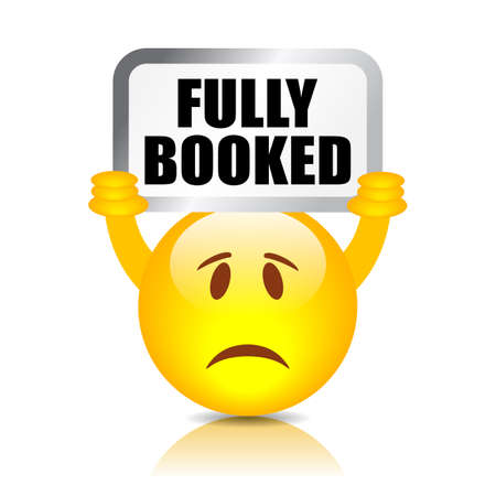 Fully booked vector emoji on white background