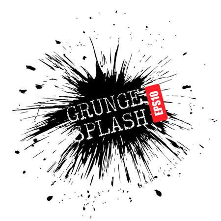 Grunge bursting splash vector design on white background