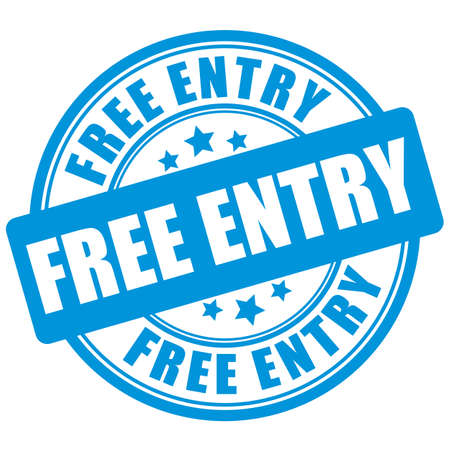 Free entry sign on white background 일러스트