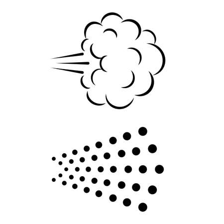 Spray cloud vector icons isolated on white background