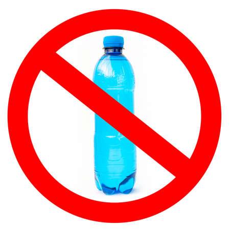 No plastic bottles sign on white background