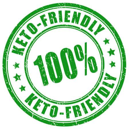 Grunge circle stamp keto-friendly