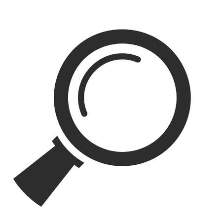 Magnifying glass vector icon isolated on white background 向量圖像