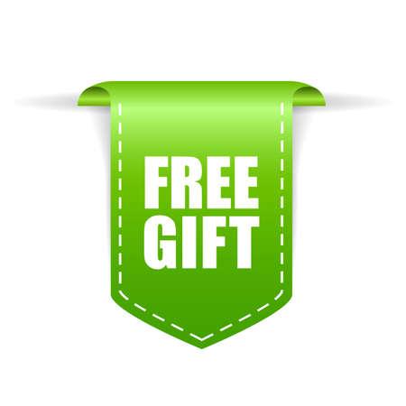 Kostenlose Geschenk-Vektor-Label isoliert auf weißem Hintergrund Vektorgrafik