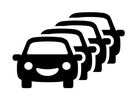 Traffic jam vector icon on white background