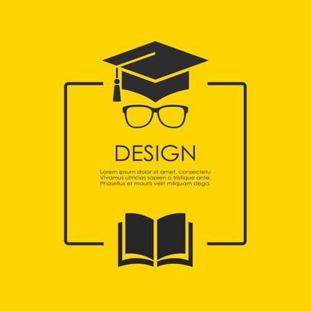 Text box design for education issue, vector illustration