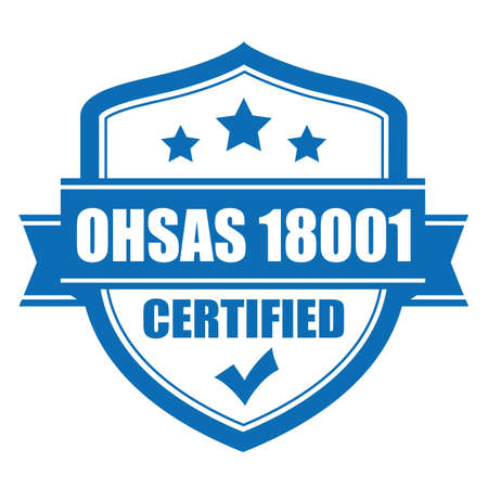 Ohsas 18001 certified vector icon